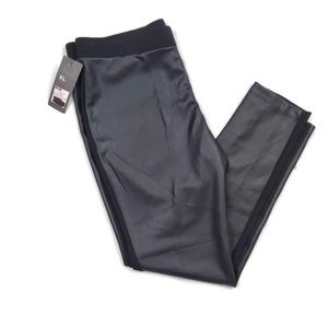 NWT Mossimo Black Vegan Leather Pull-On Pant XL